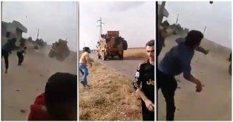 Siria, al via i pattugliamenti congiunti Russia-Turchia: mezzi blindati di Ankara presi a sassate dalla popolazione