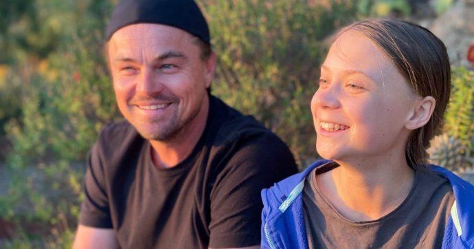 """Leonardo DiCaprio insieme a Greta Thunberg: """"È stato un onore passare del tempo con lei"""""""