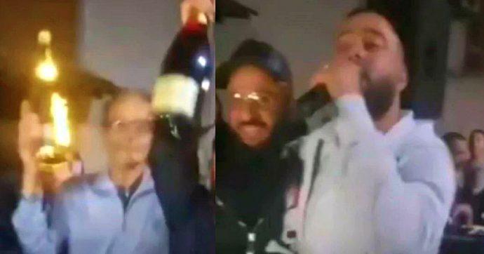 Pozzuoli: fuochi d'artificio, champagne e canzoni neomelodiche per festeggiare il ritorno a casa dei due boss scarcerati