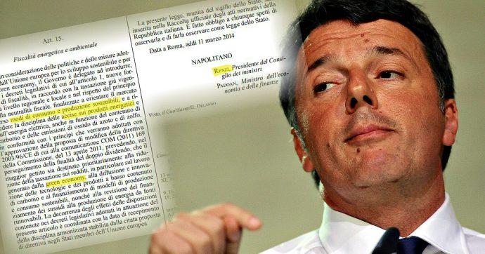 """Tasse verdi, quando Renzi era il premier aveva previsto le stesse misure ma poi le fece saltare. Orlando: """"Si toccano interessi consolidati"""""""