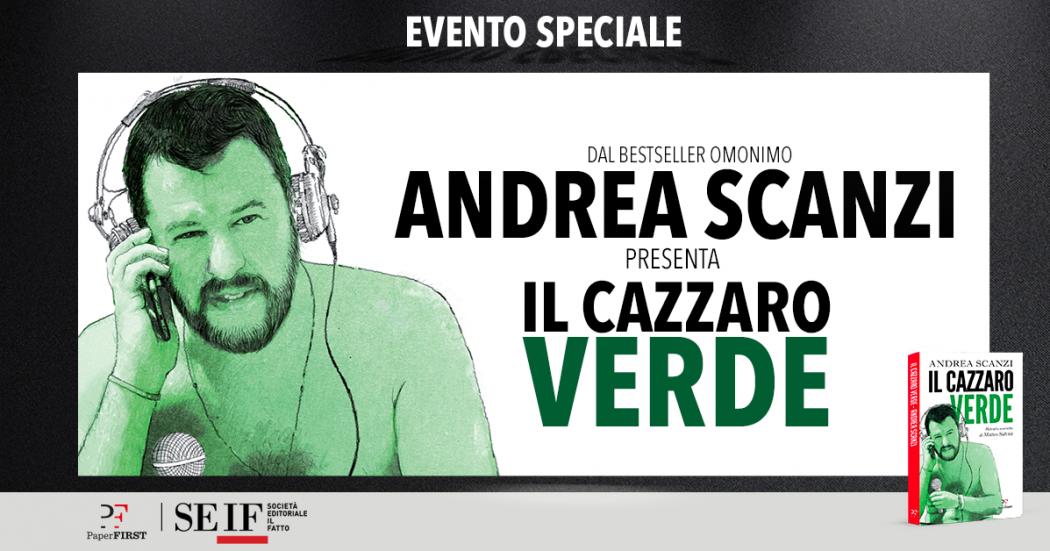 """Andrea Scanzi presenta il libro """"Il Cazzaro verde"""" con 4 eventi speciali a Milano, Bologna, Roma e Firenze"""