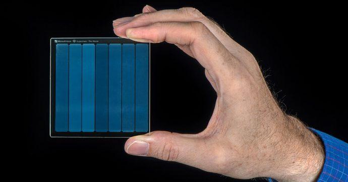 Il vetro è la soluzione definitiva per l'archiviazione eterna, parola di Microsoft