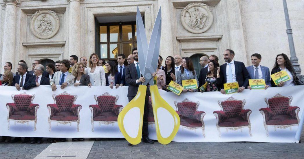 Taglio dei Parlamentari, Forza Italia raccoglie le firme per indire un referendum che blocchi la riforma