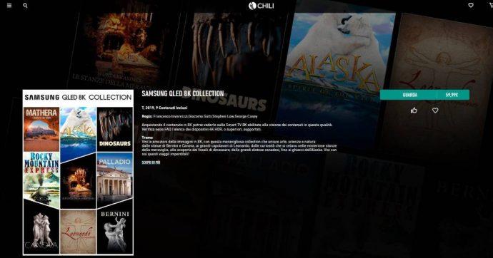 Chili inaugura l'era dello streaming 8K sulle Smart TV Samsung