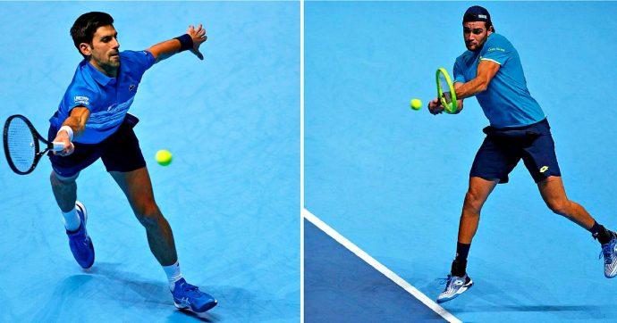 Matteo Berrettini, esordio negativo per l'azzurro con Novak Djokovic