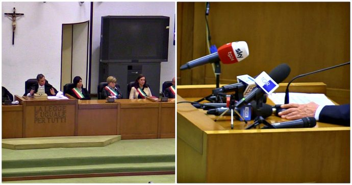 """Trattativa, accusa contro difesa sul video di Berlusconi che nega pressioni mafiose: """"Quest'aula non è uno studio televisivo"""""""