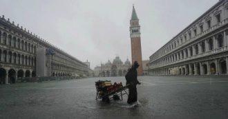 Maltempo, un morto ad Altamura. Allerta rossa in tutto il Sud. A Venezia 70 cm d'acqua nella basilica di San Marco