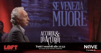 """Accordi&Disaccordi (Nove), Travaglio: """"Il disastro del Mose a Venezia ha nomi e cognomi a destra e sinistra"""""""