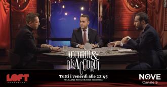 """Accordi&Disaccordi (Nove), Di Maio: """"Salvini 'cazzaro verde' definizione utile. Difendeva Arcelor e Benetton anziché gli italiani"""""""