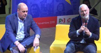 """Emilia Romagna, Zingaretti lancia la campagna di Bonaccini. Lui: """"M5s? Vinciamo anche senza"""""""