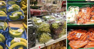 """Supermercati, plastica monouso sempre più usata per frutta e verdura. """"Eppure costa il 43% in più"""". Greenpeace: """"Danno ambientale enorme"""""""