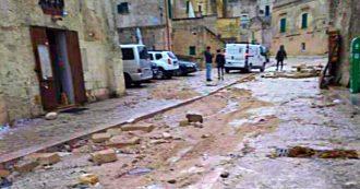 """Matera, il sindaco: """"Situazione tornata alla normalità, ma maltempo ha creato difficoltà"""". Prima stima: danni per 8 milioni di euro"""