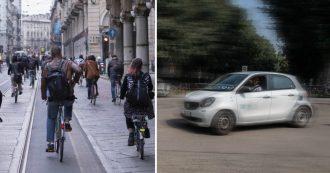 Sharing mobility: Milano città dei record, a Torino e Bologna danni sulle bici. Palermo pioniera già nel 2000