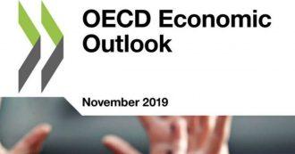 """Crescita, Ocse: nel 2019 Pil sale dello 0,2%, debito calerà da 2021. """"Ridurre sussidi dannosi per l'ambiente e combattere l'evasione fiscale"""""""