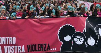 """Violenza sulle donne, la manifestazione a Roma delle femministe di Non una di meno: """"Siamo il grido feroce di chi non ha più voce"""""""