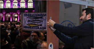 """Rimini, 7mila Sardine rispondono alla piazza di Salvini: sfida sulle note di """"Romagna mia"""". Il videoracconto"""