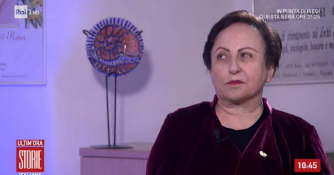 """Shirin Ebadi, il Premio Nobel per la Pace a Storie Italiane: """"Hanno affittato un appartamento per spiarmi. Sono minacciata ma non staro mai zitta"""""""