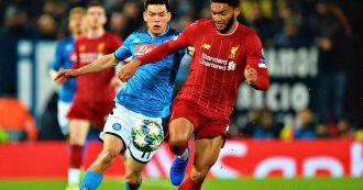 Liverpool-Napoli, a Mertens risponde Lovren: finisce 1 a 1, Ancelotti ha una prima reazione