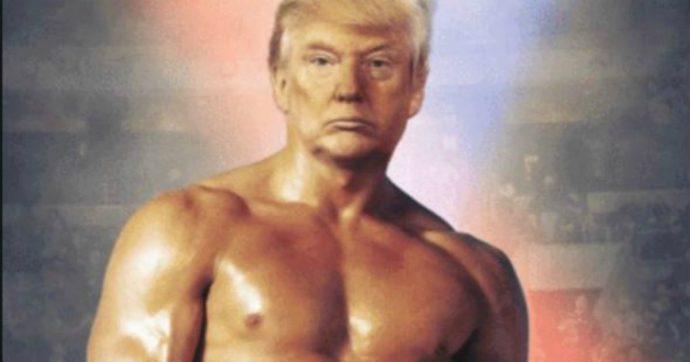 Donald Trump pubblica fotomontaggio con la sua faccia sul corpo di Rocky Balboa e scatena l'ironia social