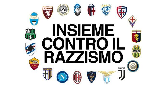 """Serie A, lettera aperta di tutti club contro il razzismo: """"Abbiamo un serio problema negli stadi, dobbiamo agire"""""""