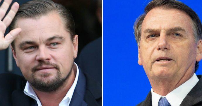 """Leonardo DiCaprio, l'accusa di Bolsonaro: """"Ha dato denaro per incendiare l'Amazzonia"""""""