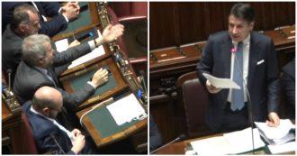 """Fondo salva-Stati, Conte: """"Da Salvini e Meloni allarmismo e falsità"""". Bagarre alla Camera, il premier si scontra col leghista Borghi"""