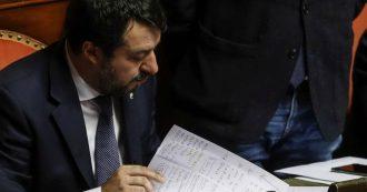 """Fondo Salva-stati, Salvini replica a Conte in Senato: """"Nel governo qualcuno mente. M5s non siano complici"""". Poi la Lega lascia l'Aula"""