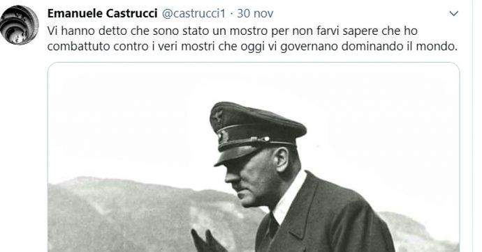 Emanuele Castrucci, dissequestrato dal gip il profilo Twitter del professore che postò foto di Hitler