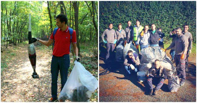 """Varese, """"la nostra pausa pranzo nei boschi per raccogliere i rifiuti"""": l'iniziativa dei lavoratori di un'azienda privata che piace ai sindaci"""