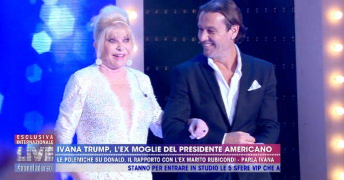 """Live non è la D'Urso, Ivana Trump: """"Donald o Rossano? Preferisco essere la baby sitter che la badante"""""""