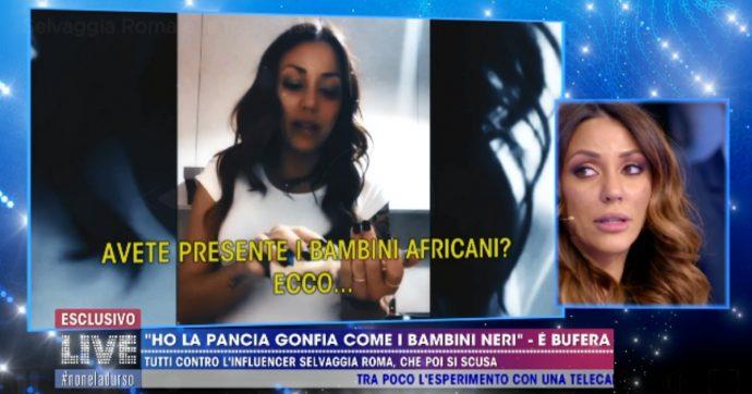 """Live non è la D'Urso, Selvaggia Roma e la pancia """"come i bambini africani"""": """"Chiedo scusa per la mia leggerezza"""""""
