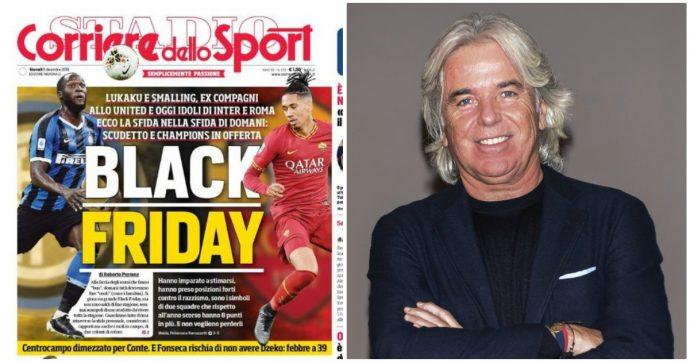 """Corriere dello Sport, accuse di razzismo per il titolo """"Black Friday"""" con Lukaku e Smalling. Roma e Milan: """"Stop interviste fino al 2020"""""""