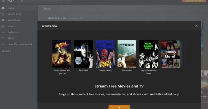 Plex.tv, un nuovo servizio streaming gratuito con film, serie TV e documentari