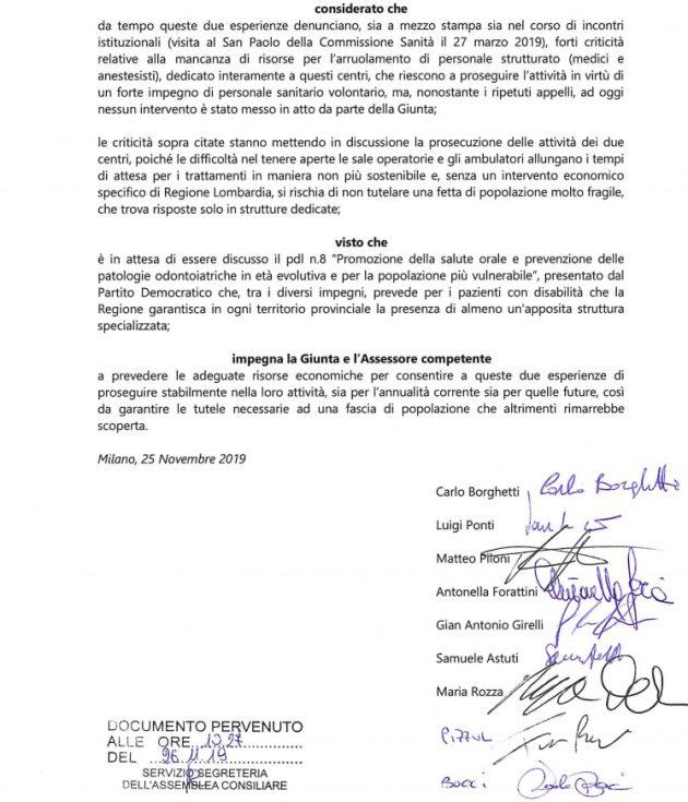 Disabili, mozione urgente del Pd in Lombardia contro la chiu