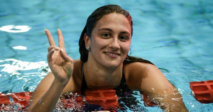 Simona Quadarella medaglia d'oro nei 400 stile libero agli Europei di nuoto in vasca corta a Glasgow. Altre 4 medaglie vinte dall'Italia