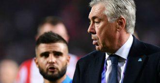 Carlo Ancelotti esonerato dal Napoli, dopo la qualificazione agli ottavi di Champions