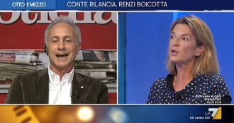 """Caso Renzi-Formigli, Travaglio su La7: """"Neanche Berlusconi ha osato tanto. Siamo oltre la vicenda del giudice Mesiano pedinato da Mediaset"""""""