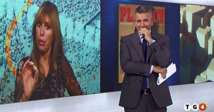 """Alessandra Mussolini, la battuta piccante a Giuseppe Brindisi in diretta al Tg4: """"Monello, ti voglio nudo sul calendario"""""""