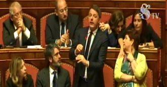 """Open, Renzi in Senato: """"Se al pm affidiamo la titolarità dell'azione politica, l'Aula fa un passo indietro per pavidità"""". E cita Aldo Moro"""