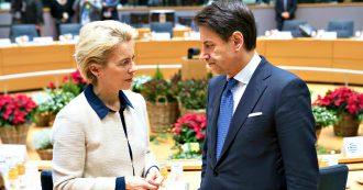 """Mes, Conte: """"Usarlo per emettere Coronavirus bond"""". Von der Leyen apre. Le Maire: """"Se abbandona l'Italia, l'Ue non si riprenderà più"""""""