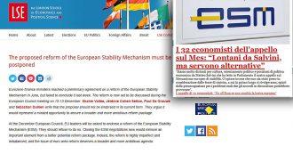 """Fondo salva Stati, appello degli economisti europeisti: """"Riforma sbilanciata, senza progressi sugli altri fronti sarebbe destabilizzante"""""""