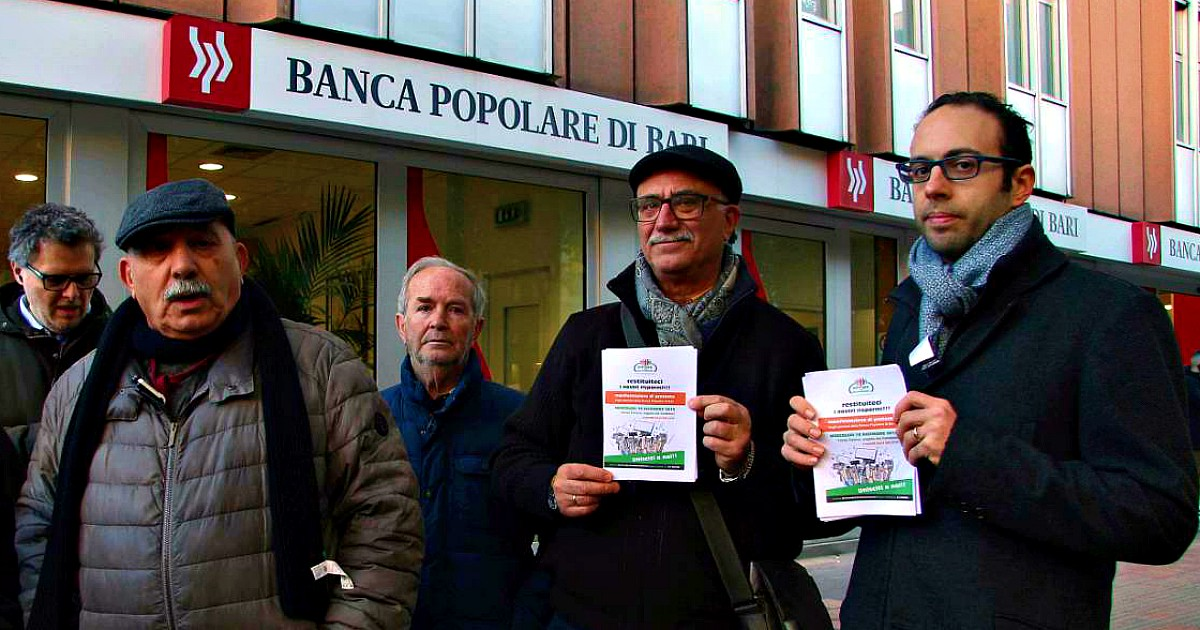 Popolare di Bari, a lungo andare si salveranno le banche spolpando i risparmiatori