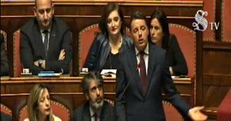 """Lega, Renzi apre a Salvini in Senato: """"Dal no al Mes all'idea di un governo di unità nazionale. Se sono seri, votino piano sui cantieri"""""""