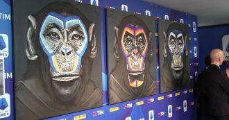 Lega Serie A, la campagna contro il razzismo è un flop: criticati i quadri con tre scimmie