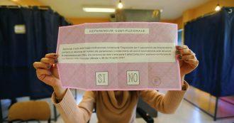 Referendum costituzionale, come funziona e i tre precedenti degli ultimi 18 anni – La scheda