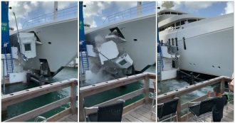 Come distruggere il superyacht da 108 milioni di euro? L'incidente sull'isola caraibica: il video