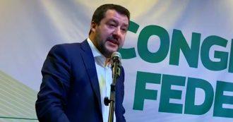 """Lega, Salvini ai delegati: """"Noi ultima àncora di salvezza per il popolo cristiano-occidentale"""". E sui senatori a vita: """"Li cancelliamo"""""""