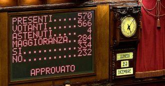 Manovra, approvazione a notte fonda: 312 sì. La Camera poco prima aveva confermato la fiducia al governo con 334 sì