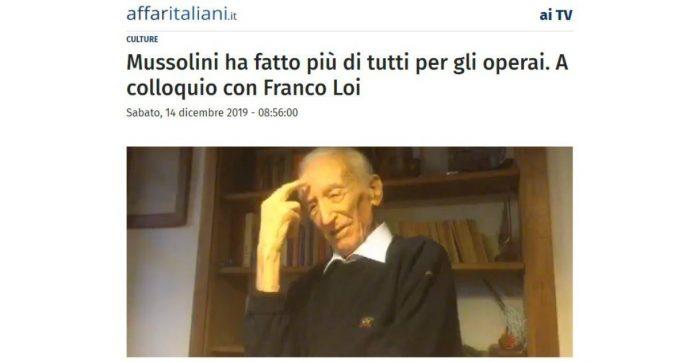 """Facebook rimuove un'intervista di Affari Italiani per una frase su Mussolini. Il direttore: """"Se c'è un fascismo è quello di chi censura"""""""