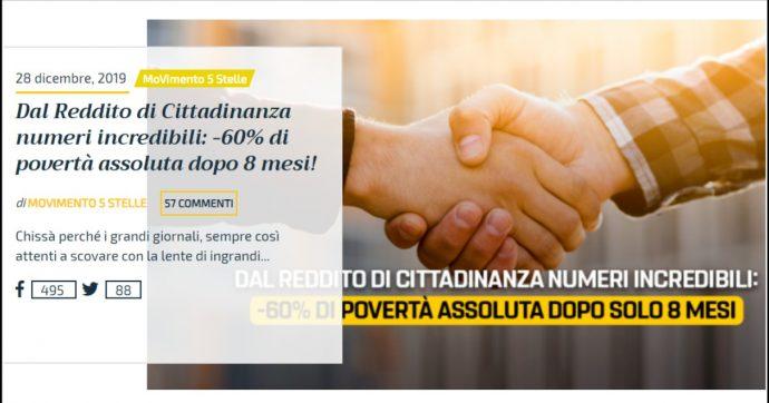 """Reddito di cittadinanza, Conte come Tridico: """"In 8 mesi -60% di povertà"""". L'Inps: """"È una prima stima, i dati definitivi il 29 gennaio"""""""